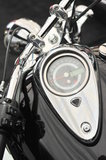 Chrome details of a motorcycle Royalty Free Stock Photography