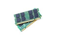 Closeup details of computer memory (RAM) Royalty Free Stock Photo
