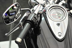Handle controls of a motorcycle Royalty Free Stock Photography