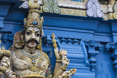 Free Closeup Details On The Tower Of A Hindu Temple Dedicated To Lord Stock Photography - 82537892