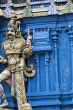 Closeup details on the tower of a Hindu Temple dedicated to Lord Royalty Free Stock Photo
