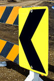 Closeup of a detour roadblock Stock Photography