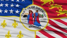Closeup of Detroit City Flag Royalty Free Stock Image