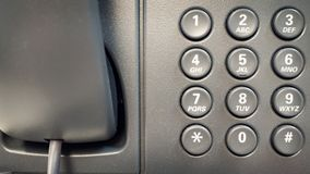 Closeup dial telephone keypad concept for communication, contact us and customer service support.  Stock Photos