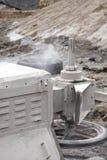 Closeup of the diamond wire saw machine  Royalty Free Stock Photo