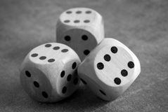 The dices on table Stock Photos