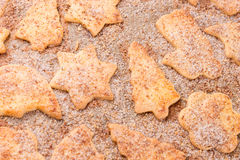 Closeup of different cookies Royalty Free Stock Photography