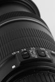 Closeup of a digital camera lens Stock Photo