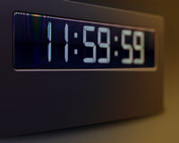 Closeup of digital clock Royalty Free Stock Photos