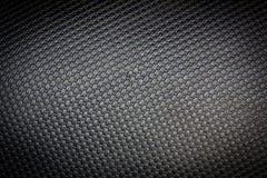 Closeup dirty black leather background, macro Stock Image