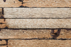 Closeup dirty hardwood plank for background user Royalty Free Stock Image