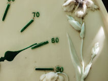 Closeup Of Dirty Outdoors Garden Thermometer Detail Stock Image