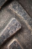Closeup of dirty tractor tyres Royalty Free Stock Photo