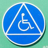 Closeup of a disabled sign Royalty Free Stock Photo