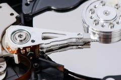 Closeup of disassembled Hard disk drive. Royalty Free Stock Photo