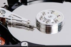 Closeup of disassembled Hard disk drive. Royalty Free Stock Photos