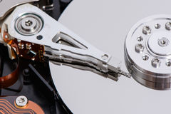 Closeup of disassembled Hard disk drive. Stock Photography