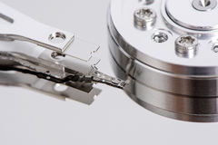 Closeup of disassembled Hard disk drive. Stock Images