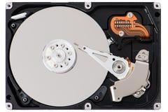 Closeup of disassembled Hard disk drive. Stock Photos