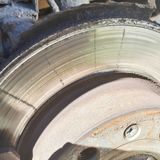 Closeup disc brake of the vehicle for repair. Detail image of car brakes royalty free stock photography