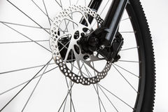 Closeup of disk brake of a mountain bicycle Royalty Free Stock Image