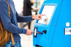 Free Closeup Display At Self-service Transfer Machine Royalty Free Stock Photos - 62817708