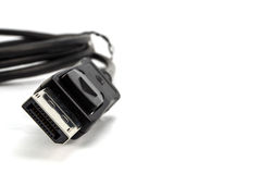 closeup of display port cable Royalty Free Stock Photos