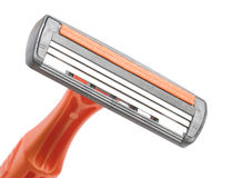 Closeup disposable razor Royalty Free Stock Photo