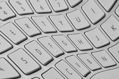 Distorted keyboard Royalty Free Stock Photos