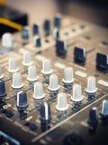 Closeup of dj controller - selective focus Stock Photo