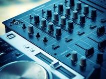 Closeup of dj controller - selective focus Royalty Free Stock Image