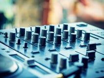 Closeup of dj controller - selective focus Stock Image