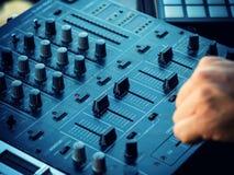 Closeup of dj controller - selective focus Stock Photography