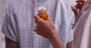 Closeup of doctor explaining prescription Royalty Free Stock Photos