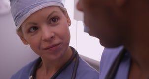 Closeup of doctors talking Royalty Free Stock Image