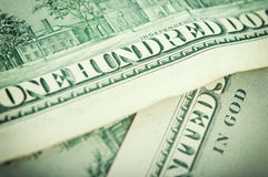 Closeup dollar bills Stock Images