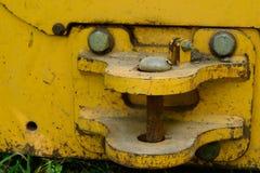 Closeup of Dozer Hitch Pin Royalty Free Stock Photos