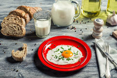 Closeup of dreakfast made ​​with fresh ingredients Stock Photo