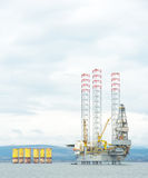 Closeup drilling rig in  Cromarty Firth Royalty Free Stock Photography