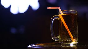 Closeup of Drinks in the bar stock video footage