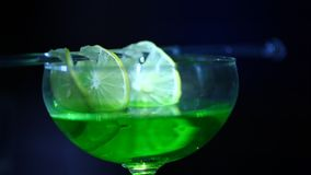 Closeup of Drinks in the bar stock footage