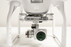 Closeup of Drone quadrocopter Dji Phantom 3 Advanced Royalty Free Stock Photos