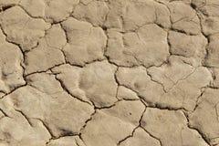 Closeup Of A Dry Arid Desert Floor. A closeup of an arid, cracked, desert floor Royalty Free Stock Photo