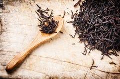 Closeup of dry black tea Royalty Free Stock Photos