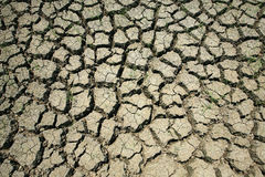 Closeup of dry broke earth Royalty Free Stock Photos
