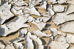 Closeup of dry cracked earth background, clay desert texture Royalty Free Stock Image