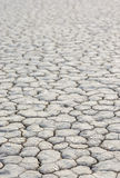 Closeup Of Dry and Cracked Mud Soil in Racetrack Playa in Death Royalty Free Stock Image