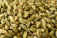 Closeup of Dry Green Cardamons Stock Photo