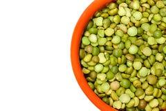 Closeup Of Dry Green Peas stock image