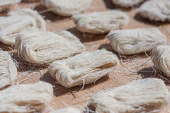 Closeup of dry noodles Stock Photography